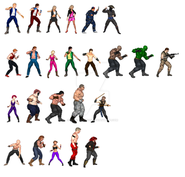 Double Dragon - Sprite Sampler by Blac-Dragoon