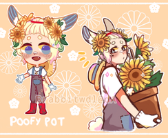 [OPEN]Poofy Pots guest adopt Set price LOWERED~ by Brabbitwdl