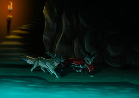 The River Cave [COMISSION] by Kitty-Winder