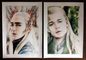 thranduil and legolas by llegolas