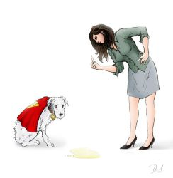 Lois and Krypto by DNM5555