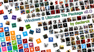 Windows 8 Ultimate Tile Package by DeCLaRcK