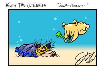 Keith the Cuttlefish 17 - Self Portrait by key-0