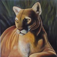 Cougar Painting on Canvas by Usitatus