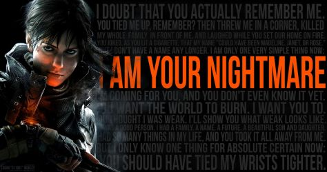 Female Division I AM YOUR NIGHTMARE 7REMASTERED by Mourkaii