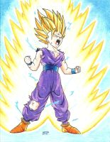 Gohan Super Saiyan 2         (varying :) ) by Allissei