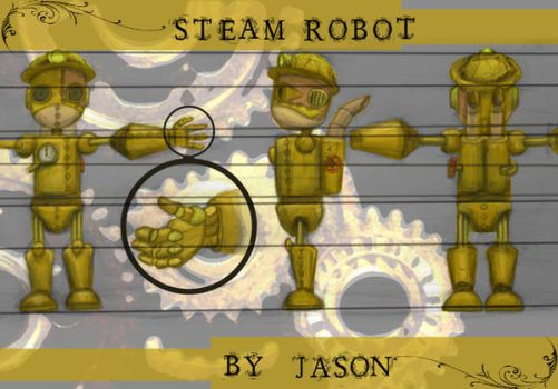 Steam robot by Lev-eye-athan