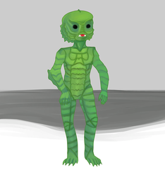 Creature From The Black Lagoon by Lunitaire