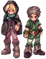 Ragnarok Online Sprites: Peter and Felix by Blacklisted23