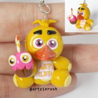 Chica Plush Polymer clay by ArtzieRush