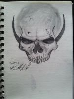 Skull with no jaw by onitensu21