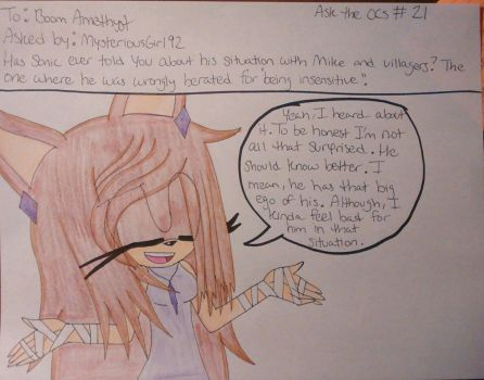 Ask the OCs #21 by Sonicgirlfriend65