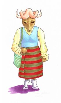 Yak Woman :color: by kalany
