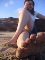 Sandy feet by audreystats
