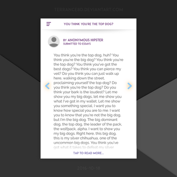 Short Story App Design - Story Preview by Terrance8d
