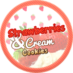 Strawberries and Cream Cookies by Echilon