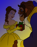 Beauty and the Beast coloring by CherishTree