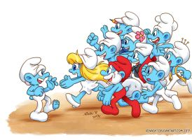 Smurfs: Clumsy! You're Alive! by rinacat