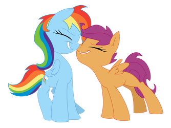 Dashie and Scoots by tyler611