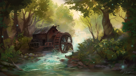 The Old Mill by Huussii