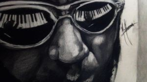 Thelonious Monk, Graphite on Paper. Zoom by MarlonChavarria