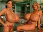 Ines Cudna and Ewa Sonnet in the Kitchen by JimmyJacks99