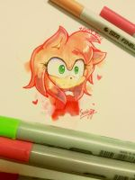 Amy Rose Doodle by SanicDodo