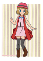 New Design - Serena - Pokemon X y Y by PumpkinTrick