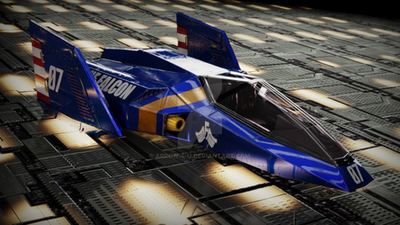 Blue Falcon render 4K by ArRoW-4-U