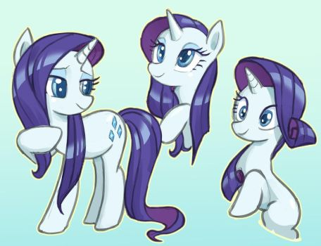 Rarity doodles! by nauth