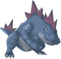 Dark Ordile | Feraligatr Commission by AutobotTesla