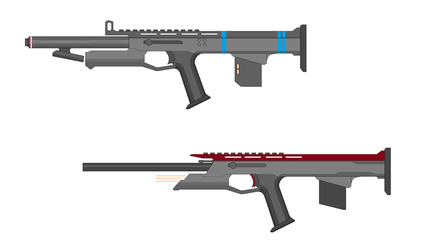 RPG Concept combat rifles by Artmarcus