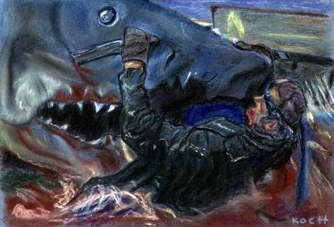 Death of Quint/JAWS by Roger Koch by tabongafan