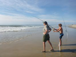 Assateague Surf Fishing by usedbooks