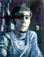 Self Portrait with Tape by zaceman