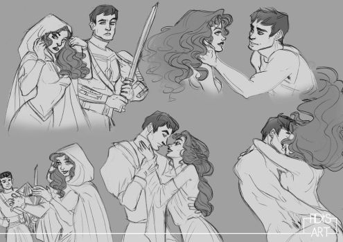 Sketchpage: Starla/Andis by FidisART