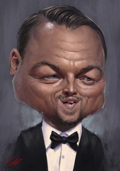 DiCaprio Caricature by Disse86
