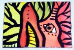 Warm Abstract Aceo by mintdawn