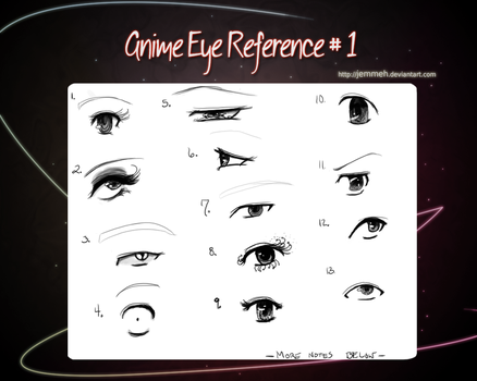 Anime Eye Reference 1 by Jemmeh