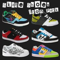 Skate Shoes Icon Pack by Kanee
