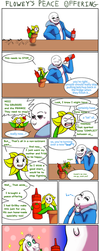 Flowey's Peace Offering (SPOILERS) by Trelock