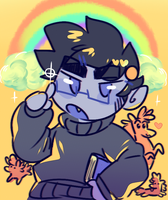 karkat bloodswap doodle by dongoverlord