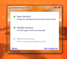 ElevatedShortcut - bypass the UAC prompt by hb860