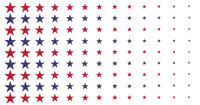 [OC] U.S.A. inspired fractal flag by vexilologia