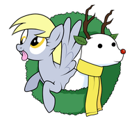 Derpy Hooves and Snowdeer by SouthParkTaoist