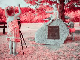 Sandy the Photographer (1/2 Infrared) by KBeezie