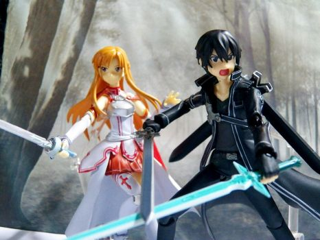 kirito X asuna battle by XxhaoxX