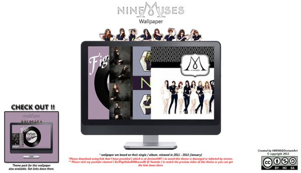 [2013 Kpop Wallpaper ] Nine Muses by HKK98