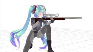 [MMD] Rifle shooting (kneel) MOTION DL link
