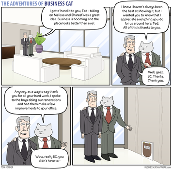 The Adventures of Business Cat - Gratitude by tomfonder